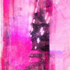 Bright city lights pink